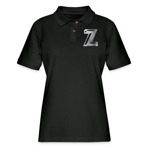 Zawles - metal logo - Women's Pique Polo Shirt