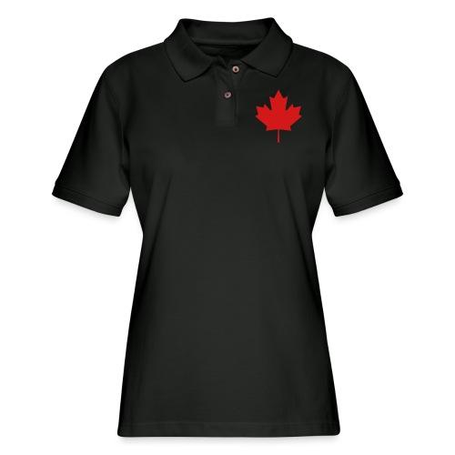 Maple Leaf - Women's Pique Polo Shirt