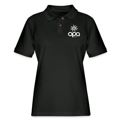 Long-sleeve t-shirt with small white OPA logo - Women's Pique Polo Shirt