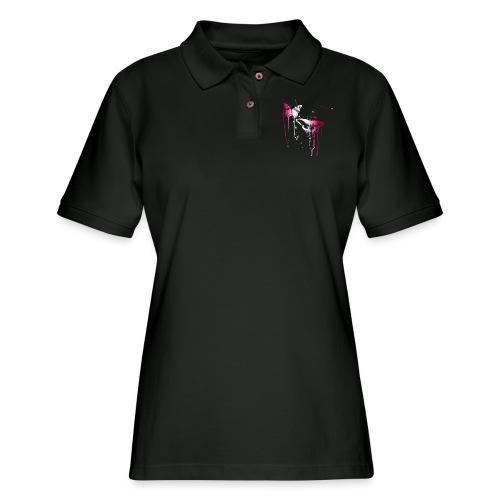 Dripping Butterflies - Women's Pique Polo Shirt