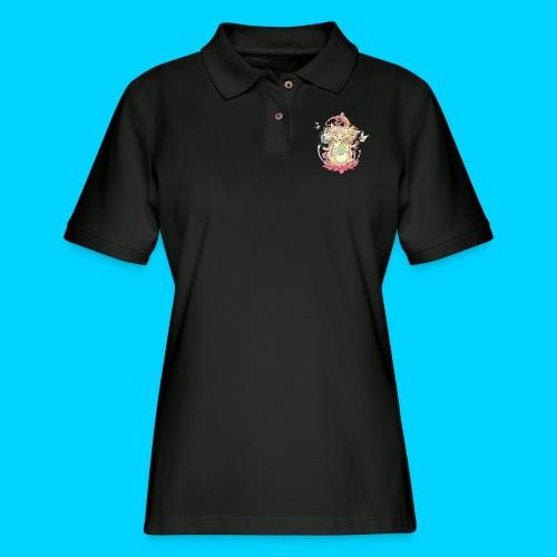 Contraption Brahma Neko - Women's Pique Polo Shirt