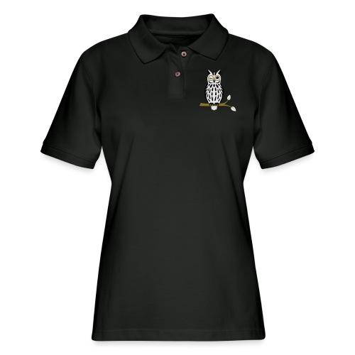 Winky Owl - Women's Pique Polo Shirt