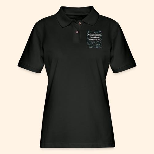 Dominant Meta-Narrative - Women's Pique Polo Shirt