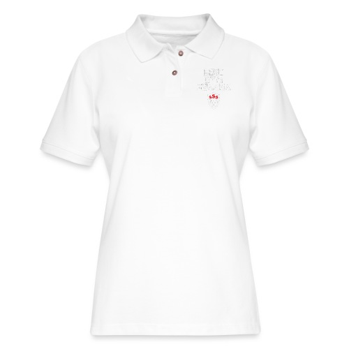 Best Gym Evaaa White and Red - Women's Pique Polo Shirt