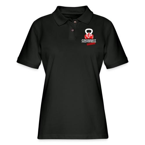 CROSSFIT LTQD - WHITE - Women's Pique Polo Shirt