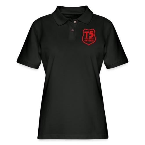 T5 tree worx shield - Women's Pique Polo Shirt