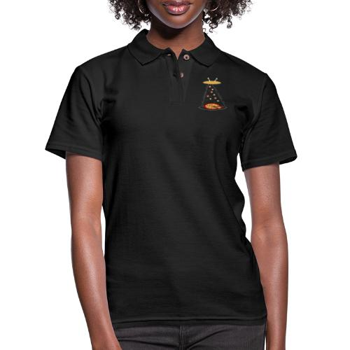 Pizza Funny Ovni - Women's Pique Polo Shirt