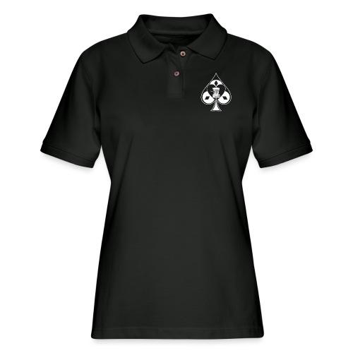 Disc Golf Lucky Ace Shirt or Prize - Women's Pique Polo Shirt
