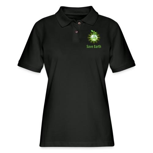 Save Earth - Women's Pique Polo Shirt