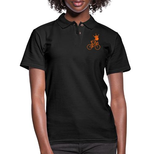 Winky Cycling King - Women's Pique Polo Shirt