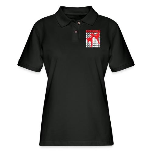 Kickboxing Tee - Women's Pique Polo Shirt