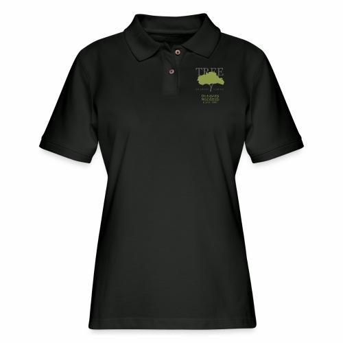Tree Reading Swag - Women's Pique Polo Shirt
