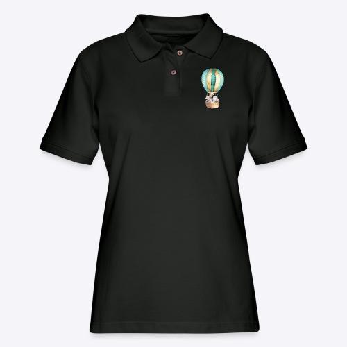 Animals in Balloon - Women's Pique Polo Shirt