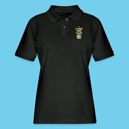 I Can't Keep Calm, I'm an Army Mom - Women's Pique Polo Shirt
