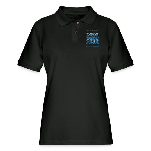 DROP IMAGE HERE - Placeit Design - Women's Pique Polo Shirt