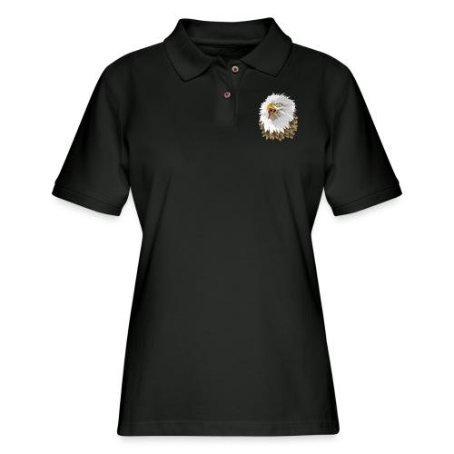 Big, Bold Eagle - Women's Pique Polo Shirt