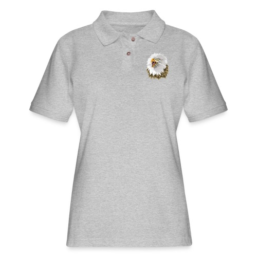 Big, Bold Eagle - Women's Pique Polo Shirt