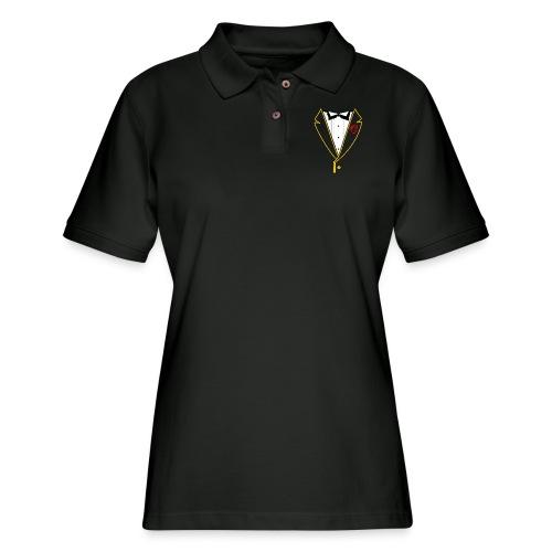 FUNK TUX - GOLD LINE - Women's Pique Polo Shirt