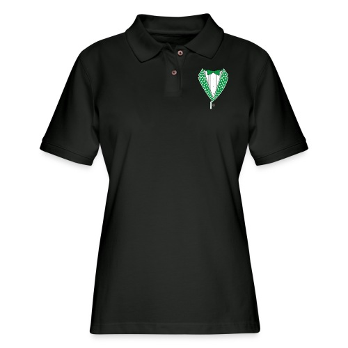 Star Tuxedo in Green PNG - Women's Pique Polo Shirt