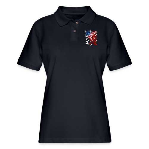 The Butterfly Flag - Women's Pique Polo Shirt
