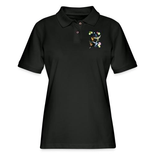 For The Love Of Hummingbirds - Women's Pique Polo Shirt