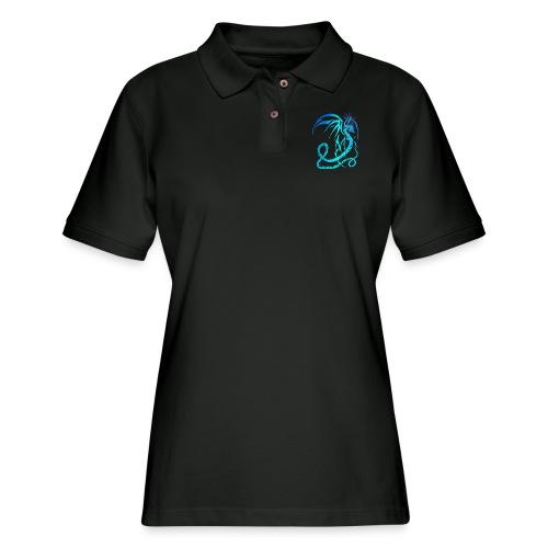 Electric Dragon - Women's Pique Polo Shirt