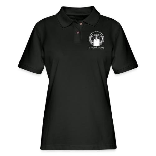 Anonymous 1 - White - Women's Pique Polo Shirt
