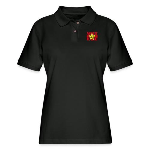 Vietnamese Star - Women's Pique Polo Shirt