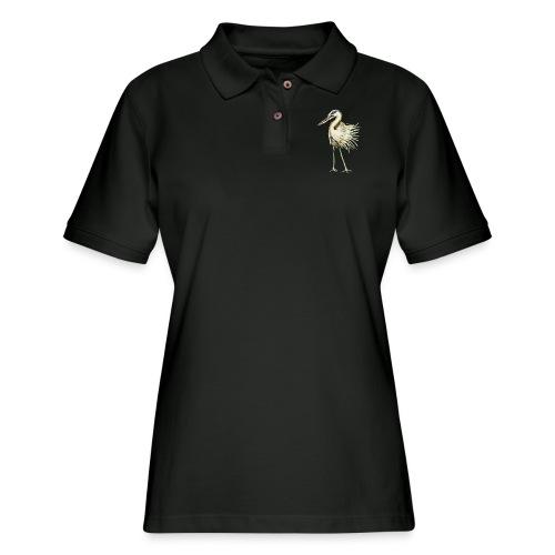 Great Blue Heron - Women's Pique Polo Shirt