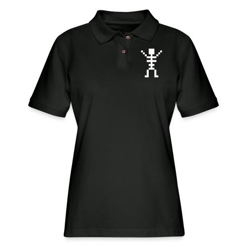 Happy Skeleton - Women's Pique Polo Shirt
