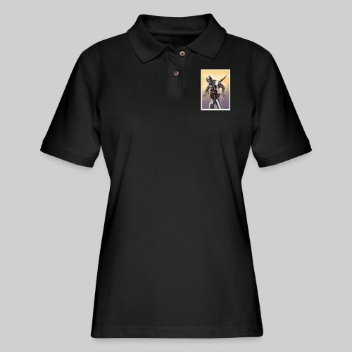Zombie Crusader - Women's Pique Polo Shirt