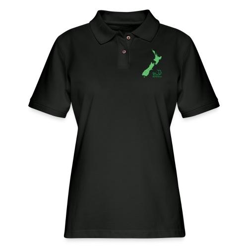 New Zealand's Map - Women's Pique Polo Shirt