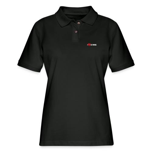 I Love Jet Noise Aviation Heart - Women's Pique Polo Shirt