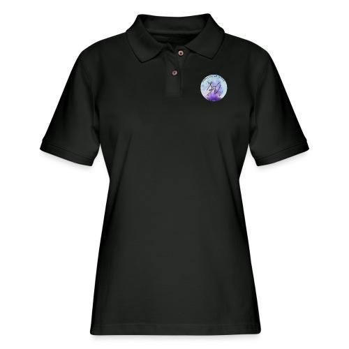 everyday is a new adventure logo - Women's Pique Polo Shirt