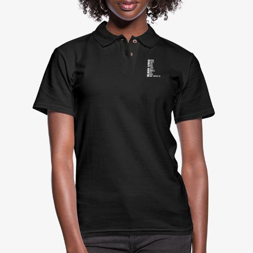 Black Lives More Than Matter - Women's Pique Polo Shirt