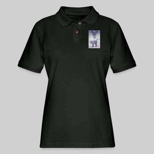 Trans Satanic Cat - Women's Pique Polo Shirt