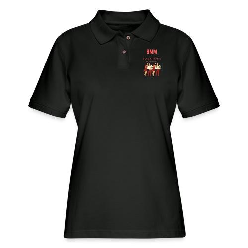 BMM wht bg - Women's Pique Polo Shirt