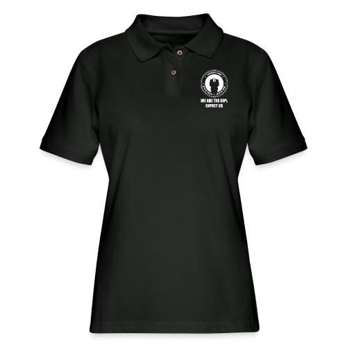 Anonymous 6 White - Women's Pique Polo Shirt