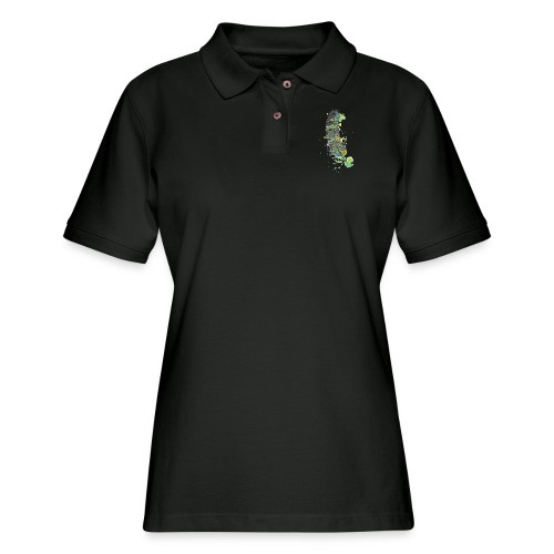 Geometric Feather - Women's Pique Polo Shirt