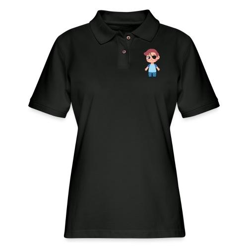 Boy with eye patch - Women's Pique Polo Shirt