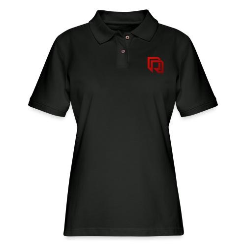 Red Iron Duo Logo (Color) - Women's Pique Polo Shirt