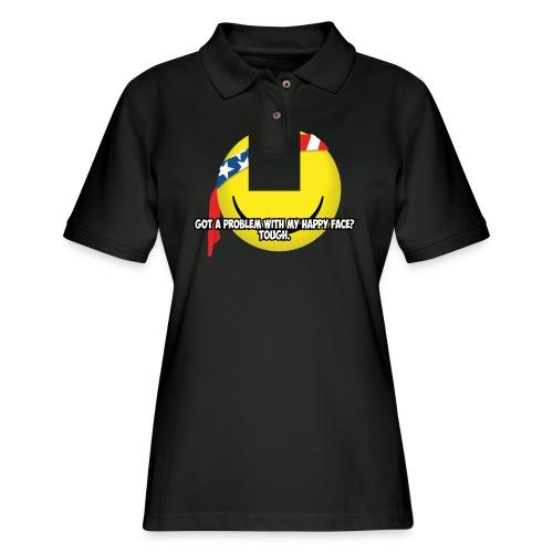 Happy Face USA - Women's Pique Polo Shirt