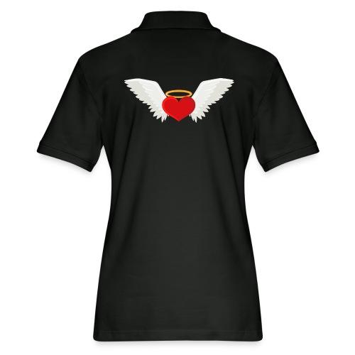 Winged heart - Angel wings - Guardian Angel - Women's Pique Polo Shirt
