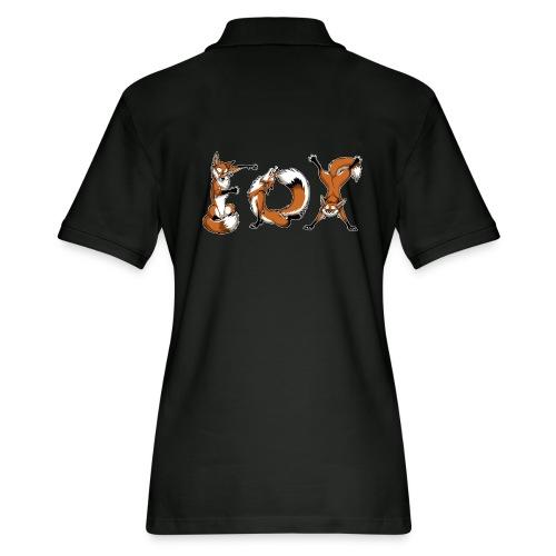 YOGA Foxes - Women's Pique Polo Shirt