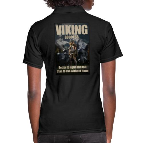 Viking Goddess - Viking warrior - Women's Pique Polo Shirt