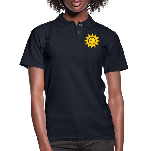 Winky Sun - Women's Pique Polo Shirt