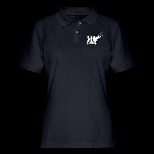 RKStudio White Logo Version - Women's Pique Polo Shirt