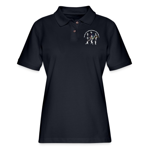 You Know You're Addicted to Hooping - White - Women's Pique Polo Shirt