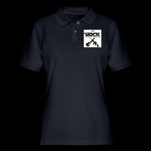 Eye Rock & Support The Troops - Women's Pique Polo Shirt