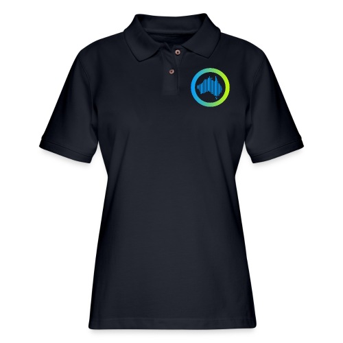 Gradient Symbol Only - Women's Pique Polo Shirt